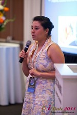 Monica Ohara (Director of Marketing at SpeedDate) at the 2011 Los Angeles Internet Dating Summit and Convention
