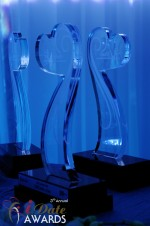 iDate Award Trophies at the 2012 iDateAwards Ceremony in Miami held in Miami Beach