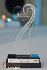The iDate Award Trophy at the 2012 Internet Dating Industry Awards in Miami