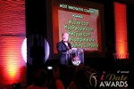 Sam Moorcroft announcing the Most Innovative Company at the 2013 Las Vegas iDate Awards