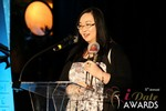 Michelle Li of Successful Match (Winner of the DatingWebsiteReview.net Award for Best New Feature) at the 2014 Las Vegas iDate Awards Ceremony