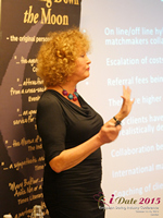 Mary Balfour CEO And Managing Director Of Drawing Down The Moon  at the 42nd iDate2015 London convention