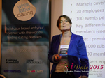 Pauline Tourneur General Manager Of Attractive World Speaking On The French Online And Mobile Dating Market  at the 42nd iDate2015 London convention